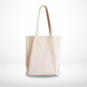 Natural Unbleached Cotton Shopping Carrier Bags with Long Handles