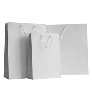 White Matt Boutique Paper Bags