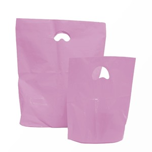 Pink Degradable Plastic Carrier Bags