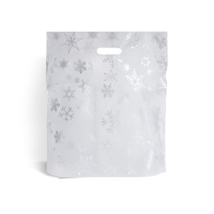 Snowflake Design Plastic Carrier Bags