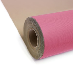 Hot Pink Kraft Roll Wrapping Paper