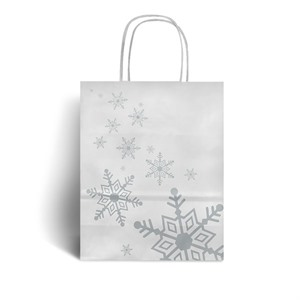 Snowflake Design Paper Carrier Bags