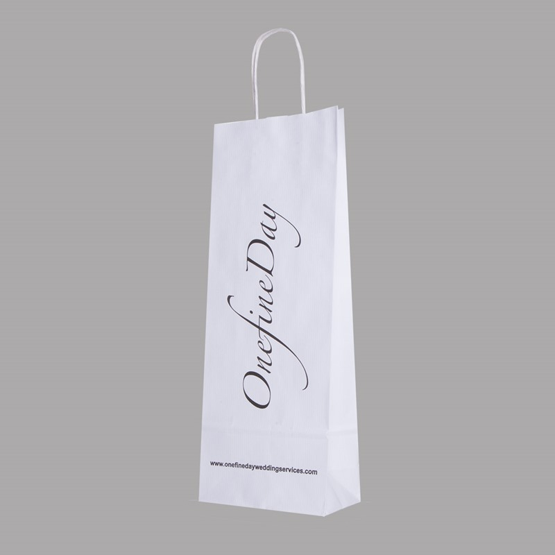 Printed Wine Bottle Bags