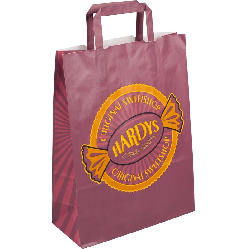 Printed Internal Flat Handle Paper Carrier Bags