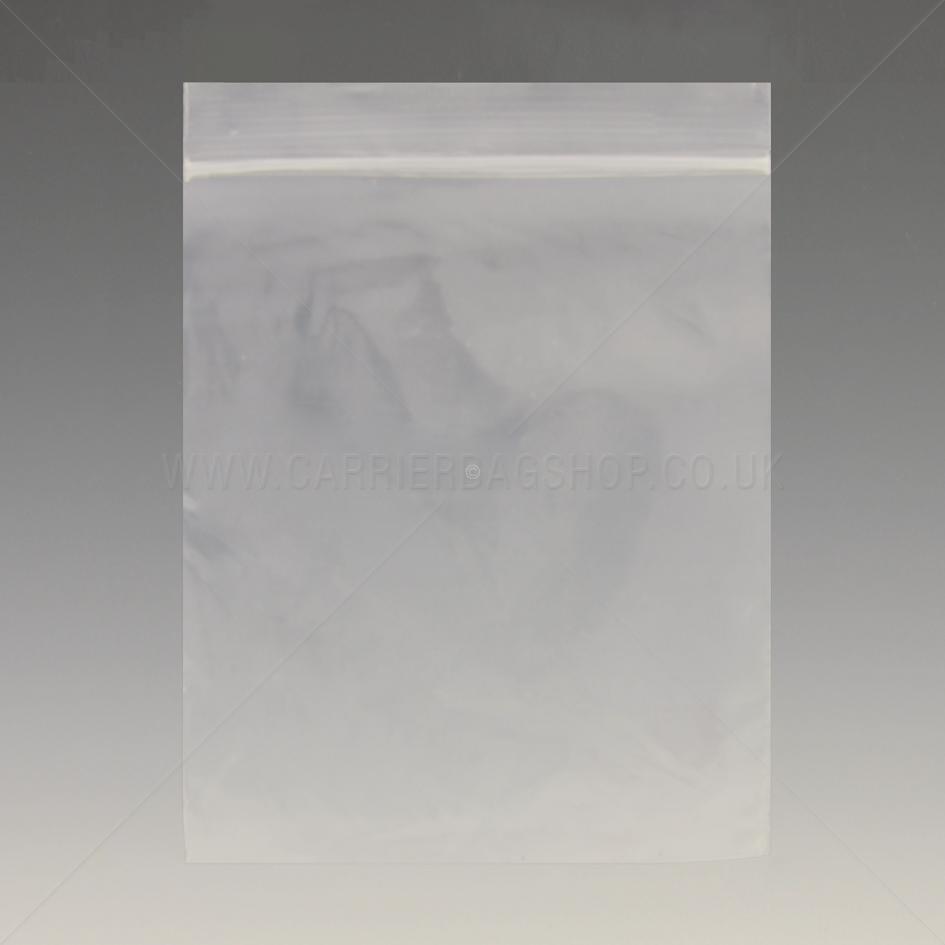 Standard Plain Resealable Bags Grip Seal