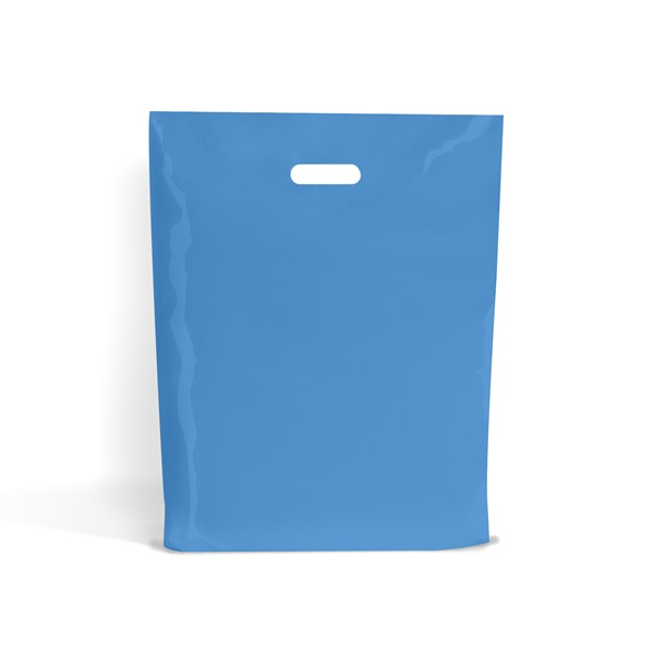 "Plastic Carrier Bags Sky Blue 500/'s 15/""x18/"""